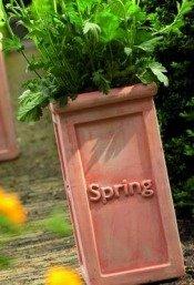 Весенние цветочные горшки