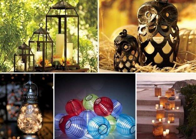 Чарующие садовые фонари