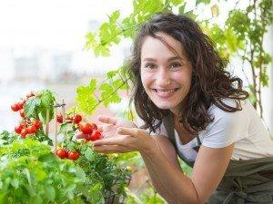 У вас есть балкон или терраса? Рядом с цветами посадите помидоры в горшке