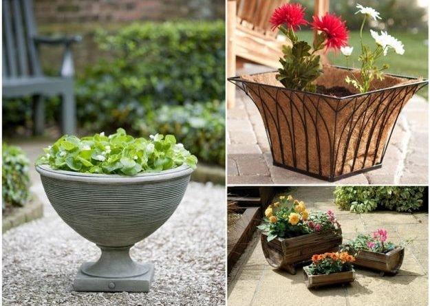 Модные цветочные горшки садового поселка и новаторские балконные